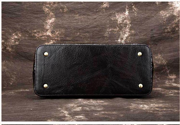 Túi xách da thật dập vân hoa văn nổi 3D phong cách cổ điển T19910 (10)