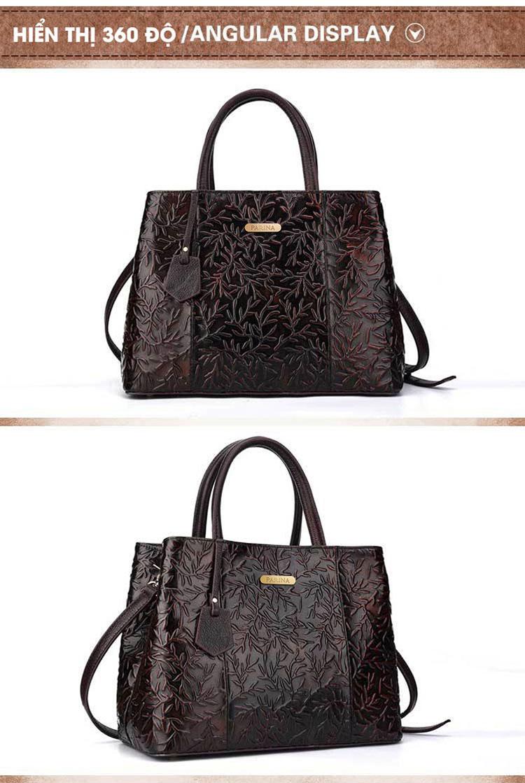 Túi xách da thật dập vân hoa văn nổi 3D phong cách cổ điển T19910 (17)