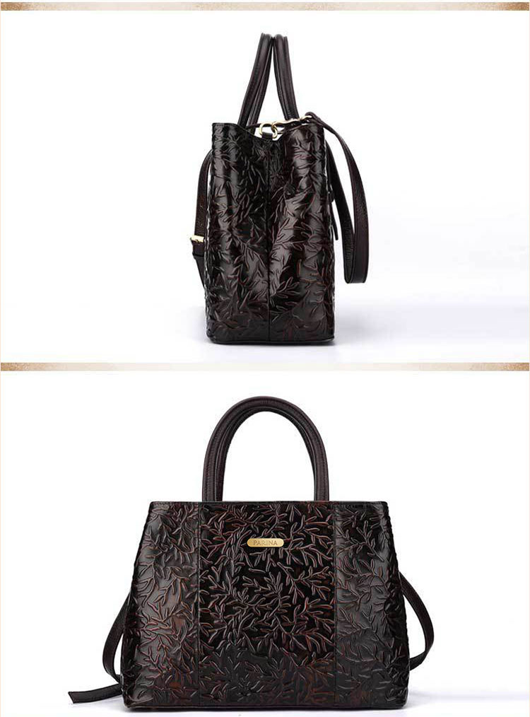 Túi xách da thật dập vân hoa văn nổi 3D phong cách cổ điển T19910 (18)