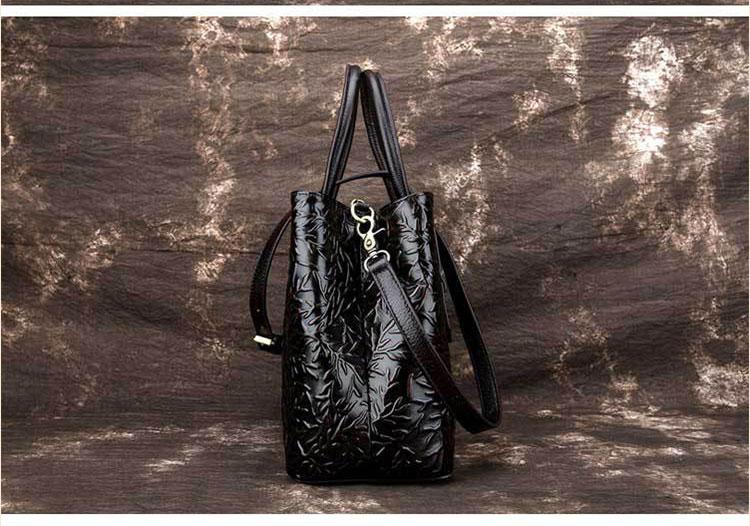 Túi xách da thật dập vân hoa văn nổi 3D phong cách cổ điển T19910 (15)
