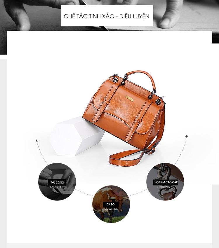 Túi xách Da thật 100% phong cách trẻ trung hiện đại T11174 (3)