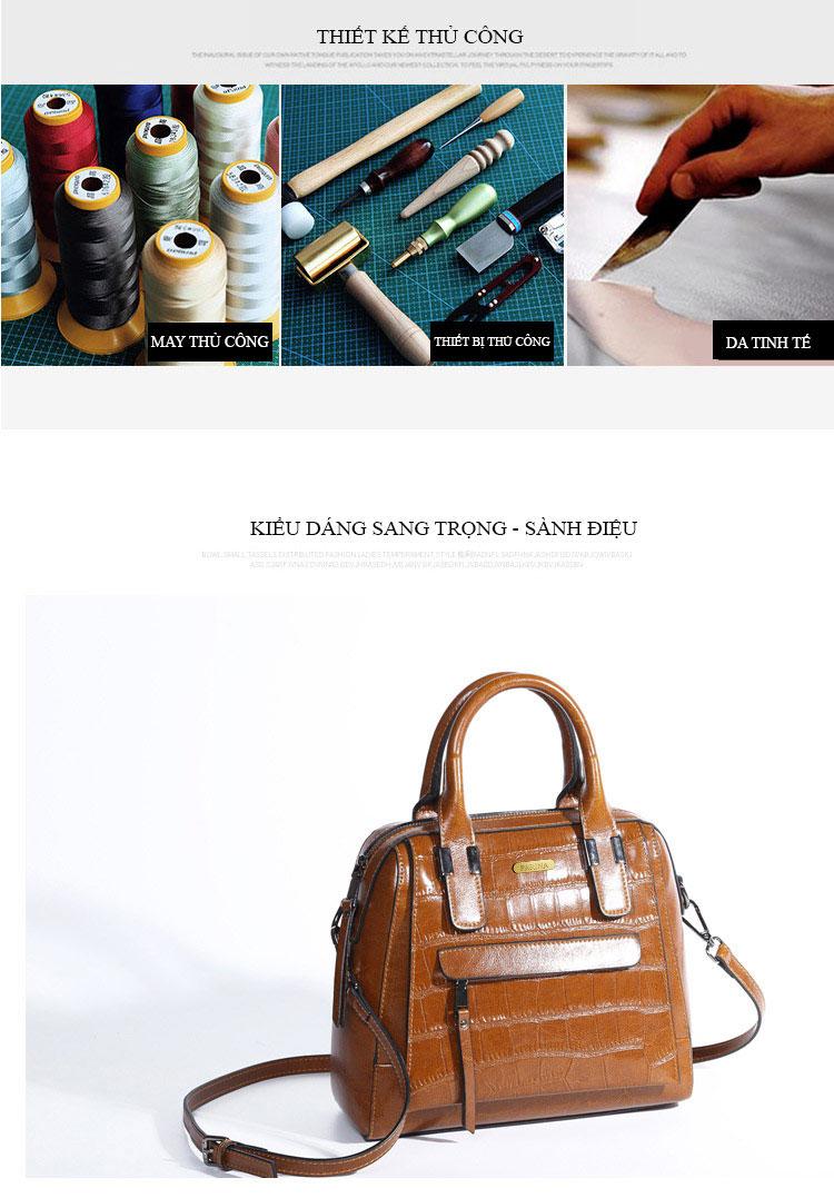 Túi xách da bò phong cách Hàn Quốc trẻ trung T11178 (2)