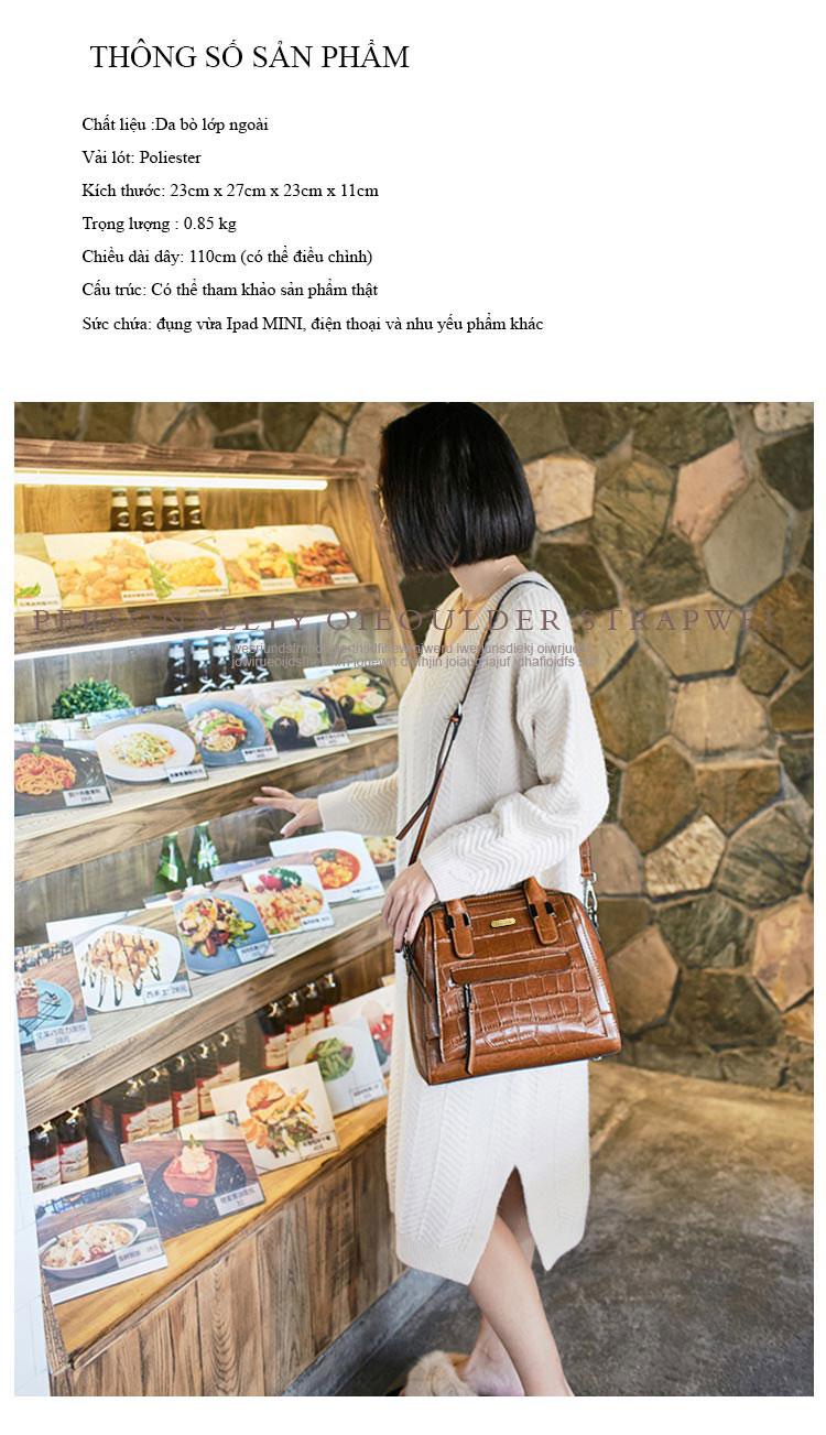 Túi xách da bò phong cách Hàn Quốc trẻ trung T11178 (7)